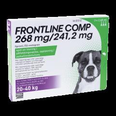FRONTLINE COMP 268/241,2 mg vet paikallisvaleluliuos (koirille)3x2,68 ml