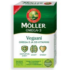 Möller Vegaani Omega-3 ja D-vitamiini 30 kaps
