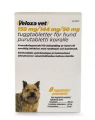VELOXA VET 150/144/50 mg purutabl 8 fol