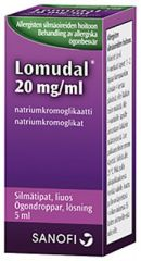 LOMUDAL 20 mg/ml silmätipat, liuos 5 ml
